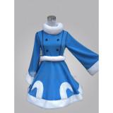League of Legends Winter Wonderland Snow Lulu Blue Dress Cosplay Costume1