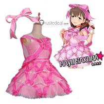 The Idolmaster Cinderella Girls Mayu Sakuma Pink Dress Cosplay Costume