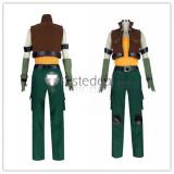 Yu-Gi-Oh! 5D's Crow Hogan Green Cosplay Costume