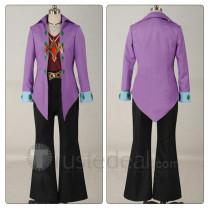 YuGiOh Reginald Kastle Purple Suit Cosplay Costume 2