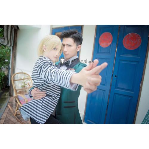 Yuri on Ice Yurio Yuri Plisetsky Stripe Suits Cosplay Costume