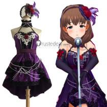 The Idolmaster Cinderella Girls Mayu Sakuma Starlight Master Halloween Purple Dress Cosplay Costume