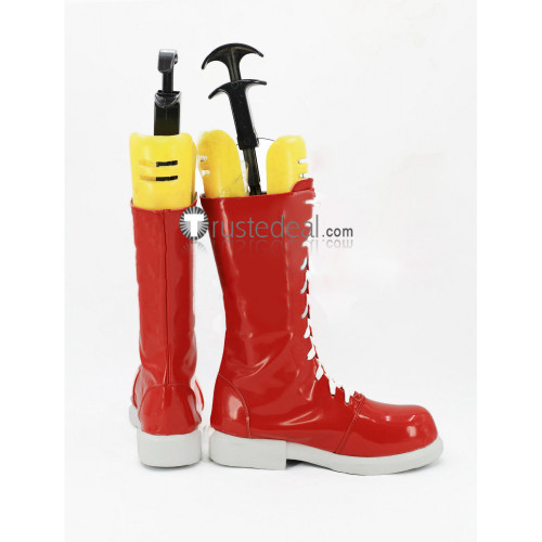 Persona 5 Goro Akechi Dark Red Cosplay Shoes Boots