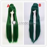 Sailor Moon Sailor Pluto Setsuna Meioh Dark Green Cosplay Wigs