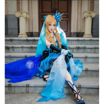 Hetalia Axis Powers Hungary Queen Blue and Black Cosplay Dress