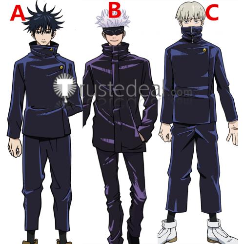 Jujutsu Kaisen Sorcery Fight Toge Inumaki Megumi Fushiguro Satoru Gojo Blue Black Uniform Cosplay Costumes