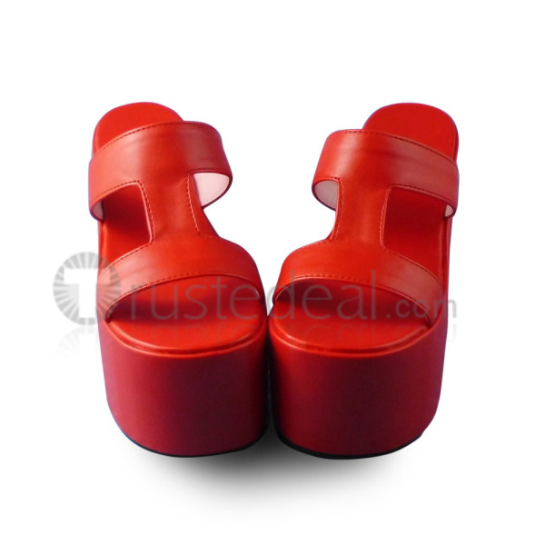 Red Patent Leather Lolita Sandals