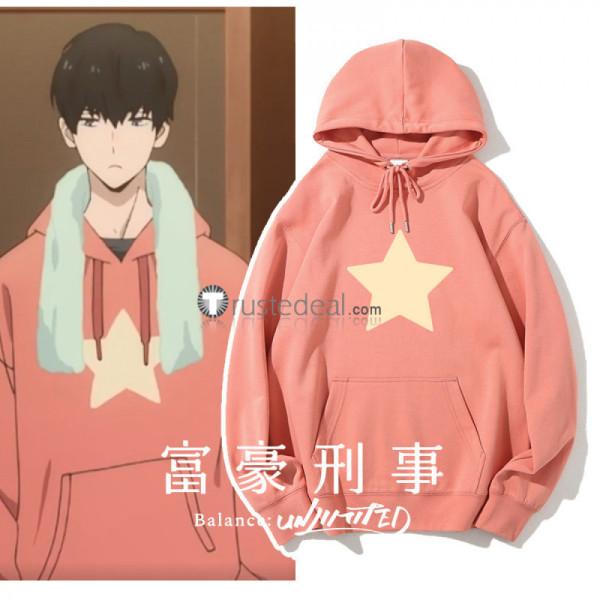 Fugou Keiji Balance Unlimited Daisuke Kambe Pink Hoodie Cosplay Costume Episode 4