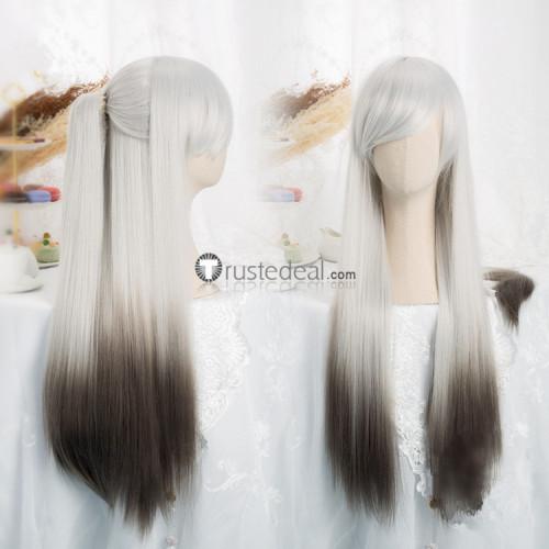 Onmyoji Hangan Hell's Judge Silver Grey Cosplay Wig