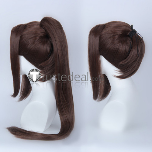 The King of Fighters KOF Mai Shiranui Black Brown Ponytail Cosplay Wigs