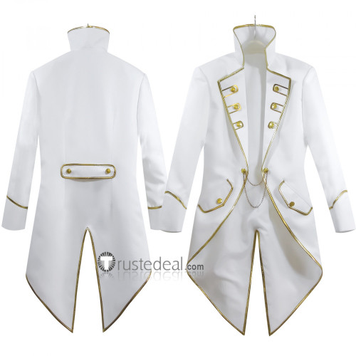 Black Butler Kuroshitsuji Aleistor Chamber Viscount of Druitt White Tuxedo Cosplay Costume