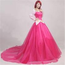 Sleeping Beauty Disney Princess Aurora Gorgeous Pink Cosplay Costume