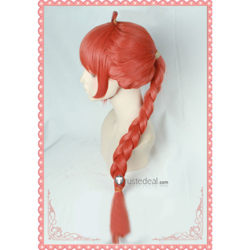 Gintama Kagura Mother Kouka Braid Orange Cosplay Wig