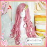 Mobile Suit Gundam Seed Princess Lacus Clyne Pink Cosplay Wigs