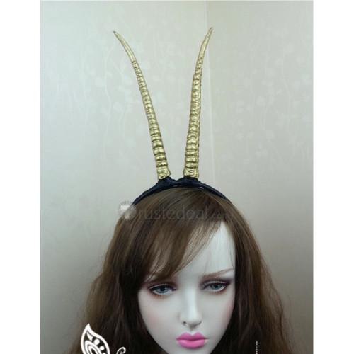 Zootopia Zootopian Pop Star Gazelle Blonde Cosplay Wig and Horns