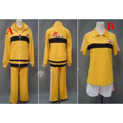 Prince of Tennis Rikkai Young Kan Yellow Uniform Cosplay Costume