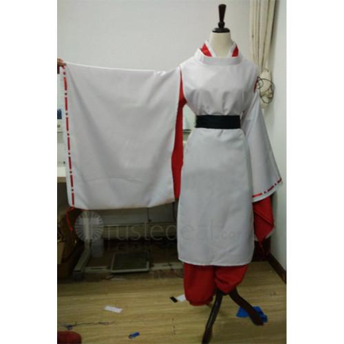 Gintama Kagura Onmyoji Red and White Cosplay Costume