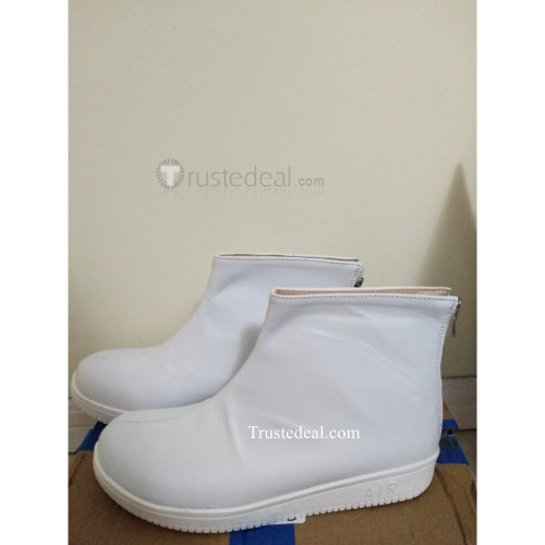 Devilman Crybaby Ryo Asuka White Cosplay Shoes Boots