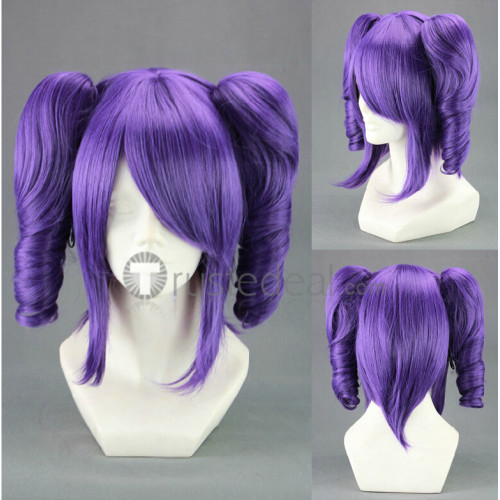 Bleach Shunsui Zanpakuto Katen Kyokotsu Purple Ponytails Cosplay Wig