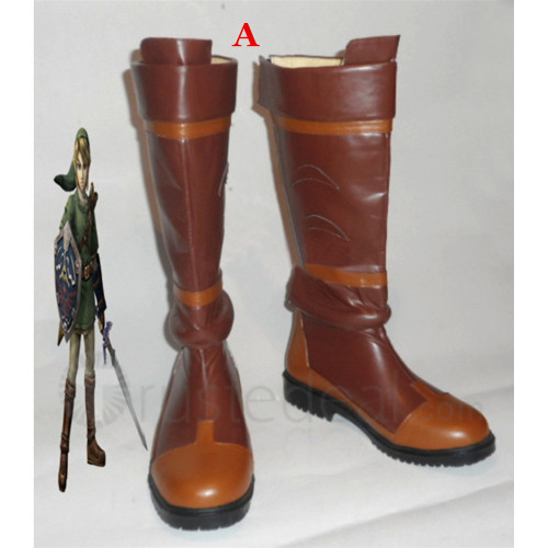 The Legend of Zelda Twilight Princess and Link Cosplay Boots Shoes