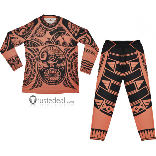 Moana 2016 Film Maui Tattoo Cosplay Costume