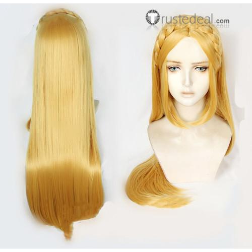 The Legend of Zelda In Breath of The Wild Princess Zelda Blonde Braids Cosplay Wigs