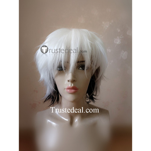 Fruits Basket Hatsuharu Sohma White Black Cosplay Wig