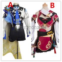 Genshin Impact Eula Yanfei Cosplay Costumes