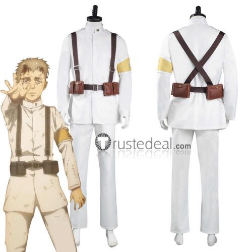 AOT Shingeki no Kyojin Attack on Titan Final Season Marley Gabi Colt Falco White Military Uniform Cosplay Costume