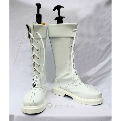 Street Fighter CHUN LI White Cosplay Boots Shoes