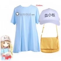 Cells at Work Hataraku Saibou Platelet Blue Shirt Cosplay Costume