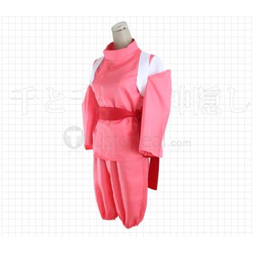 Spirited Away Chihiro Ogino Sen Pink Cosplay Costume