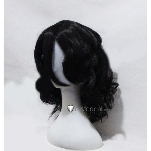 Bleach Zangetsu Black Curly Cosplay Wig