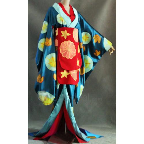 Gintama Tsukuyo Hand Painted Kimono Cosplay Costume