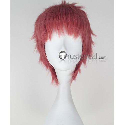 Seraph of the End Owari no Serafu Shihou Kimizuki Dark Pink Cosplay Wig
