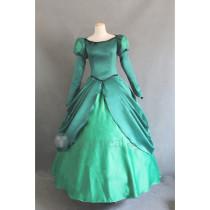 The Little Mermaid Disney Princess Ariel Green Dress Cosplay Costume