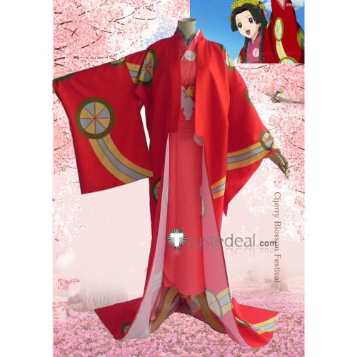 Gintama Tokugawa Soyo Princess Soyo Red Kimono Cosplay Costume