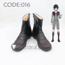 Darling in the Franxx Code: 016 Hiro Black Brown Cosplay Boots Shoes