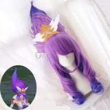 League of Legends LOL Star Guardian Janna Purple Cosplay Wig