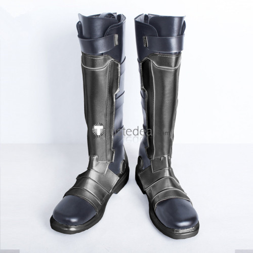 Overwatch Soldier: 76 Jack Morrison Silver Black Cosplay Boots Shoes