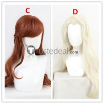 Frozen Disney2 Princess Anna Brown Cosplay Wigs