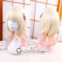 Diabolik Lovers Komori Yui Blonde Pink Cosplay Wig