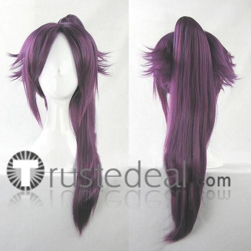 Bleach Shihouin Yoruichi Dark Purple Cosplay Wig