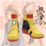 Pokemon May Haruka Yellow Cosplay Shoes Boots