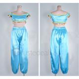 Aladdin Disney Princess Jasmine Blue Cosplay Costume