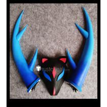 Onmyoji Enma Shikigami Lunar Glow Horns Mask Cosplay Props