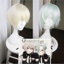 Touken Ranbu Higekiri Hizamaru Light Blonde Green Cosplay Wig