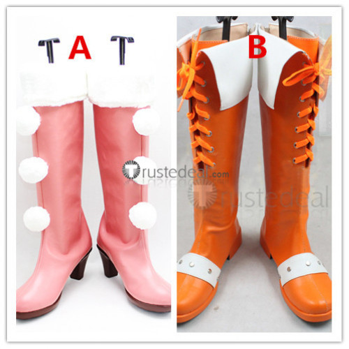 The Seven Deadly Sins Revival of The Commandments Diane Orange Pink Cosplay Boots Shoes