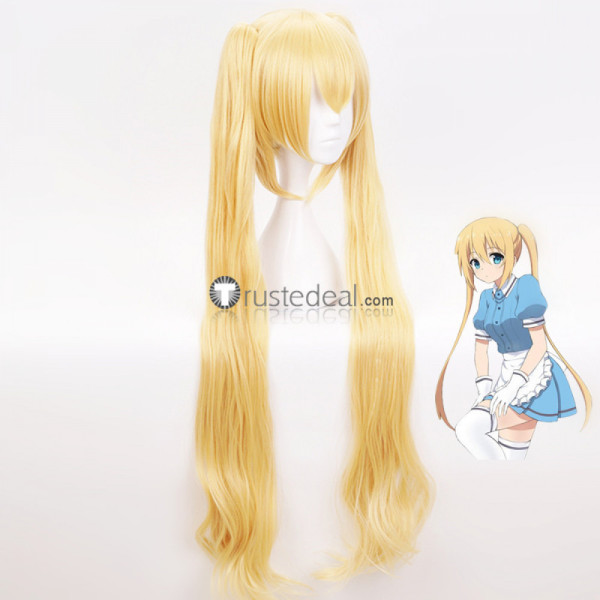 Blend S Kaho Hinata Blonde Ponytails Curly Cosplay Wig