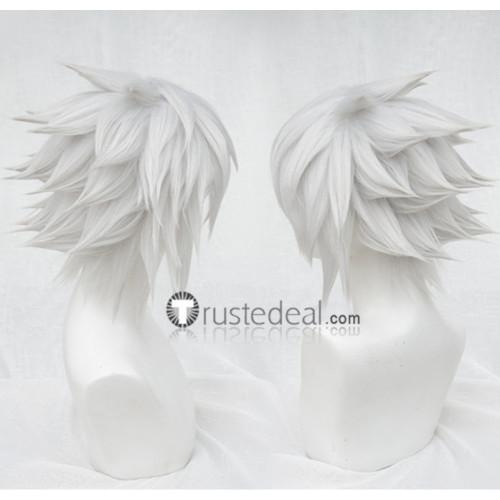 Kingdom Hearts III Riku Silver Gray Spiky Cosplay Wig